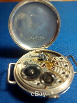 Vintage C. 1920 Sterling Silver Trench Montre Suisse En 16 Bijoux Fil Lug Travaux
