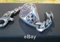 Vintage Chrome Hearts En Argent Sterling Et Diamants Rolex
