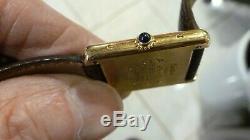 Vintage Dames Cartier Must De Réservoir Vermeil Quartz Montre-bracelet Excellente Course