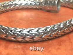 Vintage Estate Sterling Silver Bracelet Designer Signé John Hardy Tressé