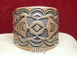 Vintage Estate Sterling Silver Native American Ring Band Stamped Sud-ouest