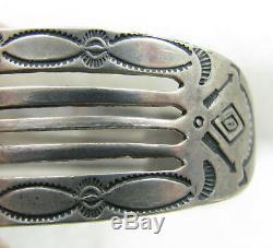 Vintage Fred Harvey Era Repousse Entiers Flèches D'argent Sterling Bracelet
