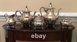 Vintage Gorham 5 Pièce Sterling Silver Tea Set