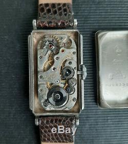 Vintage Gruen Techni-quadron Médecins Argent Sterling Montre Rolex Prince 1930
