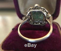 Vintage Halo Bague De Fiançailles 2ct Asscher Diamant Art Déco Bague En Or 14k Plus