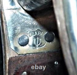 Vintage Marqué Gravé Diablo Sterling Silver Selle Western Etriers 2 En Large