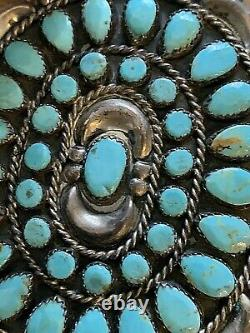 Vintage Navajo Sterling/turquoise Concho Belt Famous Victor Moses Begay. 4316pc (4316pc)