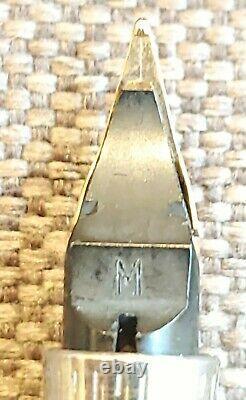 Vintage Parker 75 Sterling Silver Fountain Pen Cisele 14k Nib France