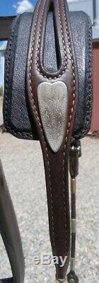 Vintage Silver Virole En Argent Sterling Têtière Horse Show Vogt Bit Curb