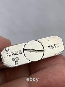 Vintage Sterling Silver Hermanns Pocket Lighter With Concealed / Hidden Watch
