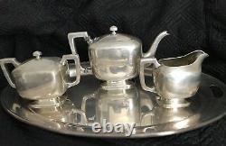 Vintage Stunning Wm Wise & Son Sterling Silver Tea Set No Monogram