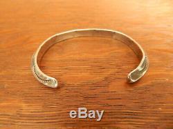 Vintage Tahe Navajo En Argent Sterling Carénés Ingut Entiers Bracelet