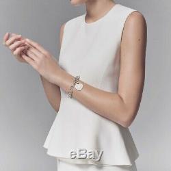 Vintage Tiffany Argent 925 Coeur Bracelet Tag 100% Véritable Used (rer £ 320 Nouveau)