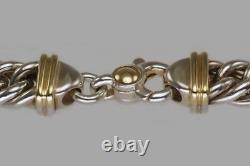 Vintage Tiffany & Co 18ct Collier De Chaîne D'or Et D'argent Lien De Courbe Lourde 120 Grammes