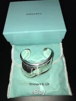 Vintage Tiffany & Co Elsa Peretti Os Bracelet Sterling Poignet Gauche Utilisé