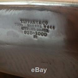 Vintage Tiffany & Co En Argent Sterling Flask Extra Large 8 Peut Contenir Ouïes 32 Onces