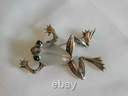 Vintage Trifari Jelly Belly Frog Brooch 1943 Alfred Philippe Sterling 135172 Pat