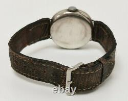 Vtg 1928 James Weir Solid Sterling Silver Cushion Trench Style Gents Wrist Watch