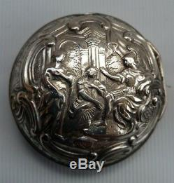 Vtg George III 1771 Tarts De London Silver Repousse Paire Cased Montre De Poche