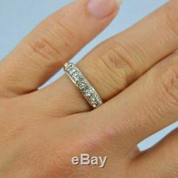 Wedding Band Vintage Bague 1,00 Ct Rond Taillé Diamant 14k Or Jaune Terminer
